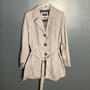 Sonoma pinstriped trench coat